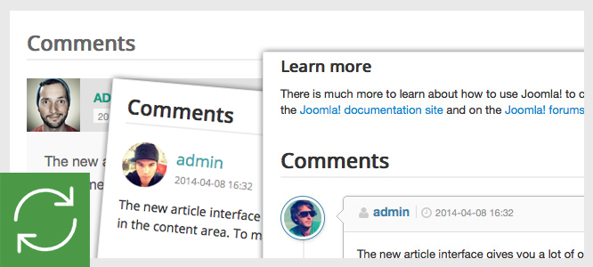 Improve style for all JComments Template