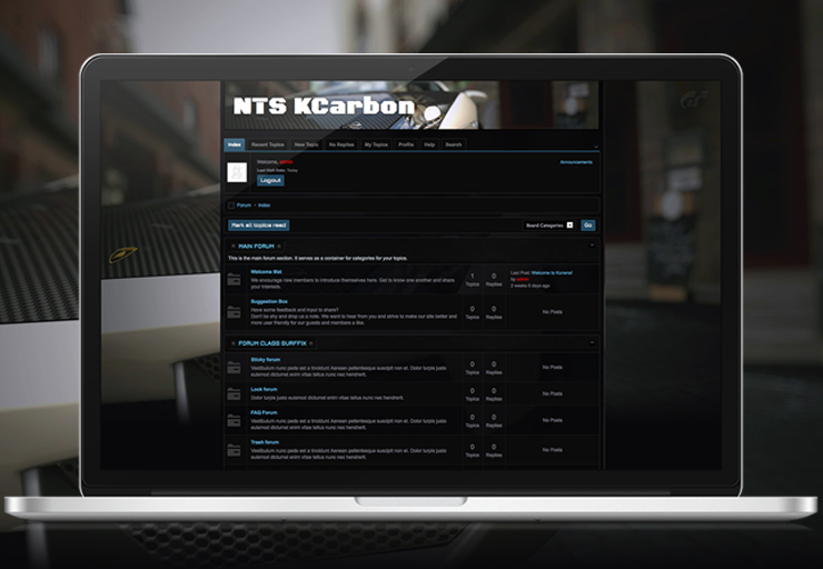 NTS KCarbon - Kunena Template